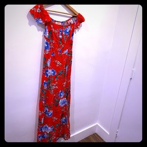 Band of Gypsies XS dress red floral pattern